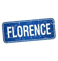 Florence blue stamp isolated on white background vector