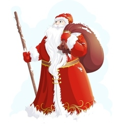Grandfather frost painted on a white background vector