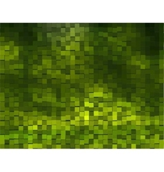 Green Background With cubes vector image vector image