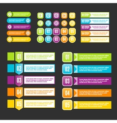 Infographics steps for business presentation vector