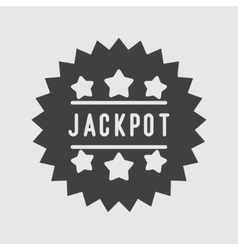 Jackpot icon vector