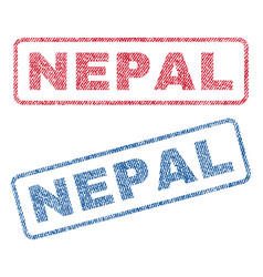 Nepal textile stamps vector