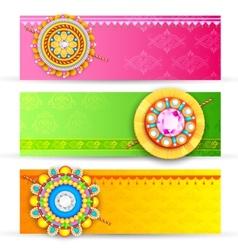 Raksha bandhan banner vector