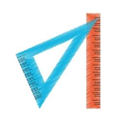 Ruler of school concept design vector