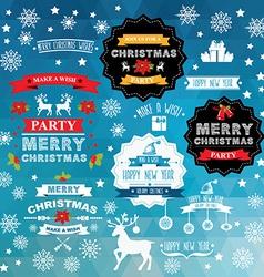 Set of creative Christmas badges vector image