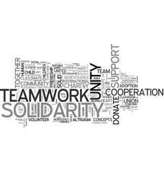 Solidarity word cloud concept vector