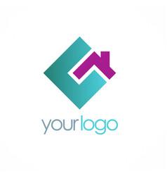 square home company logo vector image