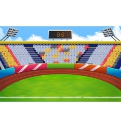Stadium background vector image