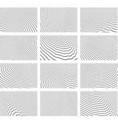 Textured backgrounds set vector