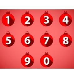 The numbering in the style of Christmas balls vector image vector image