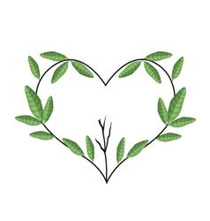Tree Branch in Heart Shape Wreath vector image vector image