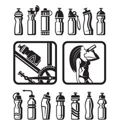 water bottles vector image vector image