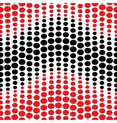 Wave with red and black polka dots seamless vector image