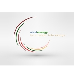 Windmill creative colorful abstract logo vector image vector image