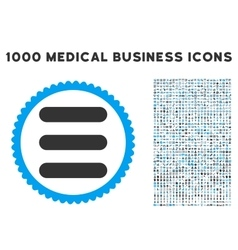 Stack icon with 1000 medical business pictograms vector