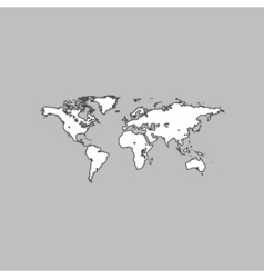 World map computer symbol vector