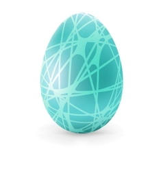 Easter color Egg with lines  EPS8 vector image
