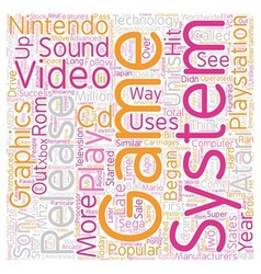 History of video game systems text background vector