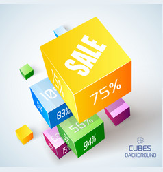Sale geometric concept vector