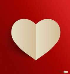 Paper heart shape symbol for valentines day with vector