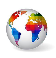Rainbow colored glob icon vector image