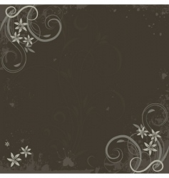grunge paint flower background vector image
