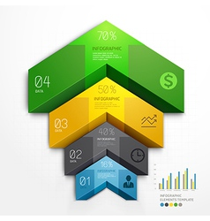 3d arrow infographics diagram business template vector image vector image