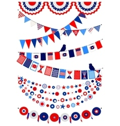 Set american decorations vector