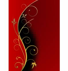 cristmas background golden frame vector image