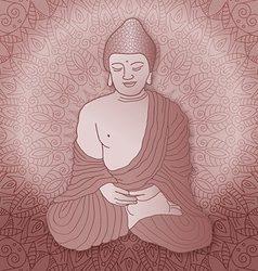Hand drawn buddha vector