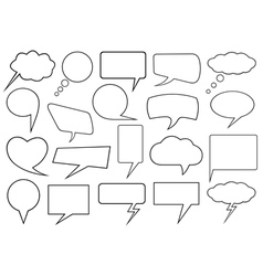 Set of different speech bubbles vector