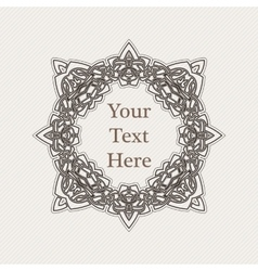 Ornate border gothic lace tattoo celtic vector