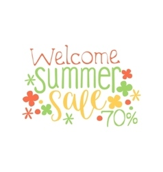 Welcome summer sale colorful ad vector
