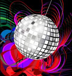 abstract disco ball vector image vector image