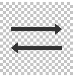 Arrow simple sign dark gray icon on transparent vector