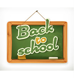 Back to school schoolboard icon vector