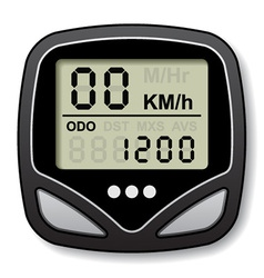 bicycle speedometer computer vector image vector image