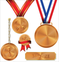 Bronze medal vector