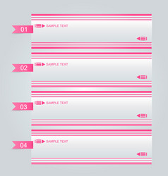 business infographics template pink color vector image vector image