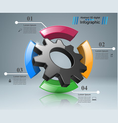 Cogwheel gear icon business infographics vector
