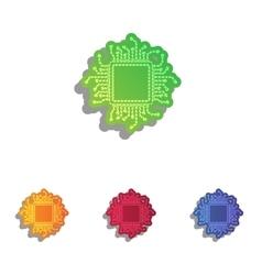 Cpu microprocessor colorfull vector