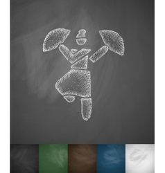 dance icon Hand drawn vector image