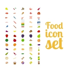 Different food isolated icon set vector image vector image