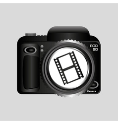 Digital photo camera roll film vector