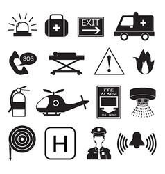 Emergency Icons Collection vector image vector image