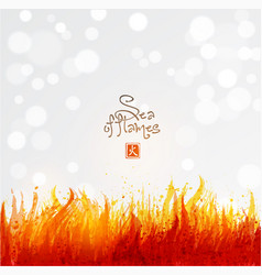 flame on white background place for your text vector image