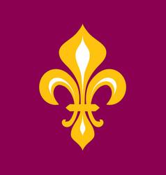 Fleur-de-lys flower de luce royal heraldic lily vector