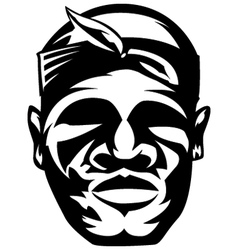 Gangster with bandana vector