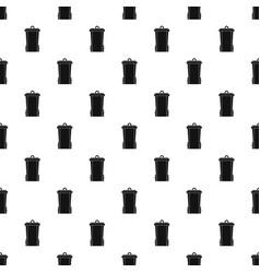 Garbage bin pattern vector