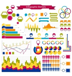 infographics collection graphshistogramsarrows vector image vector image